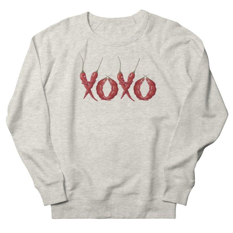 XOXO Chilies Women's French Terry Sweatshirt by FashionedbyNature's Artist Shop