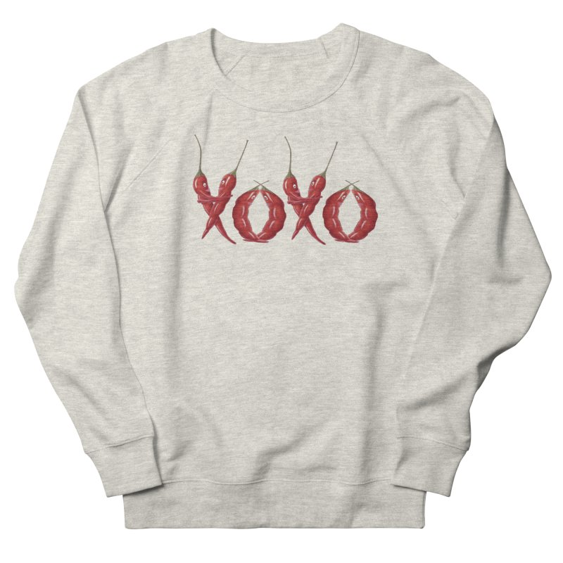 XOXO Chilies Men's French Terry Sweatshirt by FashionedbyNature's Artist Shop