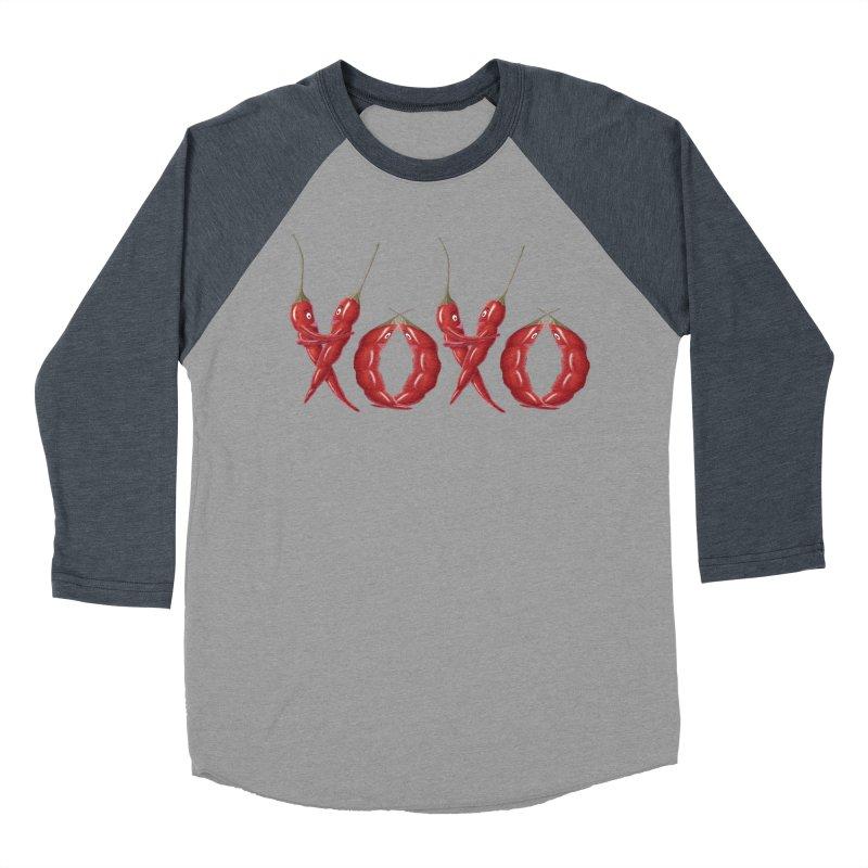 XOXO Chilies Women's Baseball Triblend Longsleeve T-Shirt by FashionedbyNature's Artist Shop