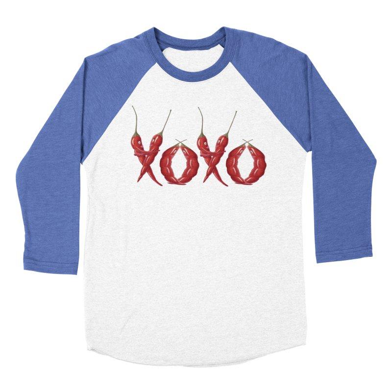 XOXO Chilies Men's Baseball Triblend Longsleeve T-Shirt by FashionedbyNature's Artist Shop