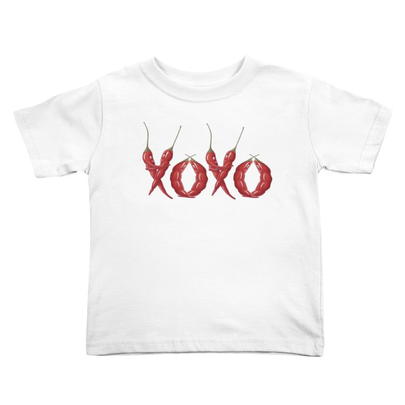 XOXO Chilies Kids Toddler T-Shirt by FashionedbyNature's Artist Shop