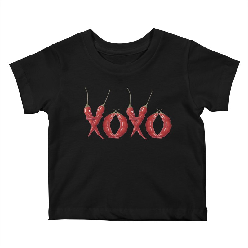XOXO Chilies Kids Baby T-Shirt by FashionedbyNature's Artist Shop