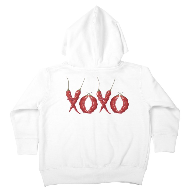 XOXO Chilies Kids Toddler Zip-Up Hoody by FashionedbyNature's Artist Shop