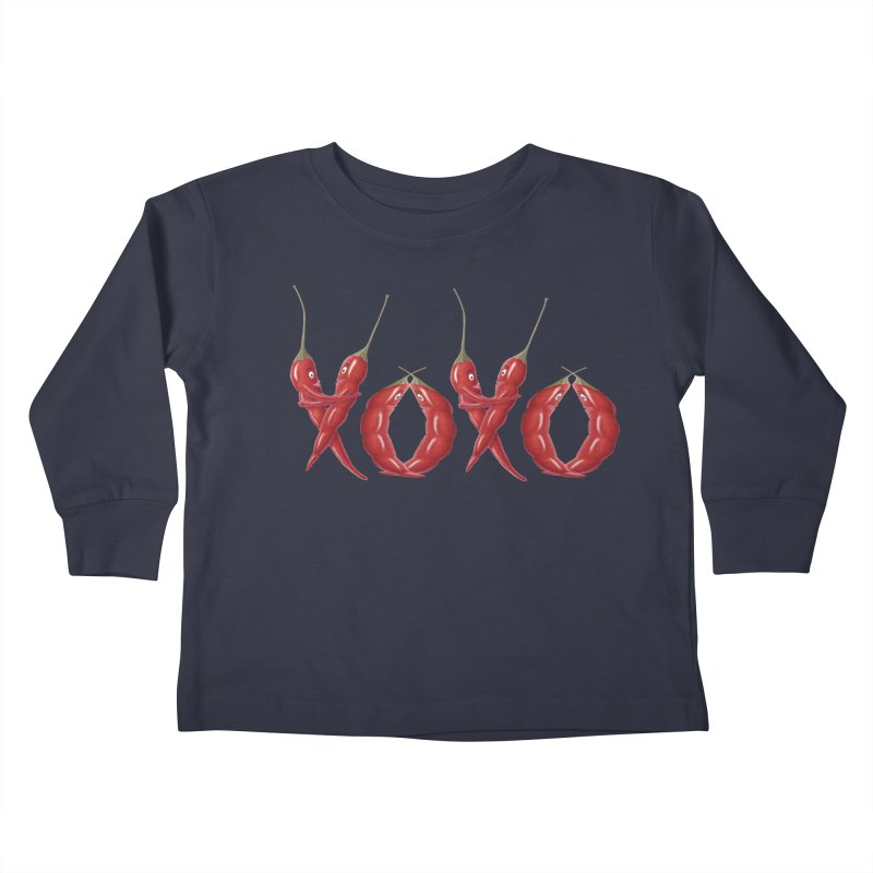 XOXO Chilies Kids Toddler Longsleeve T-Shirt by FashionedbyNature's Artist Shop