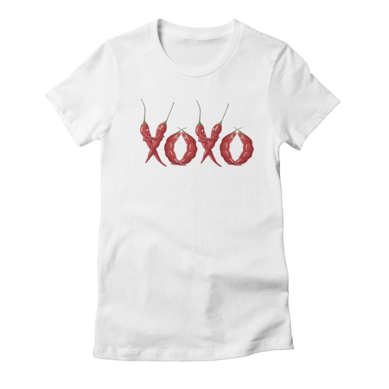XOXO Chilies Women's Fitted T-Shirt by FashionedbyNature's Artist Shop