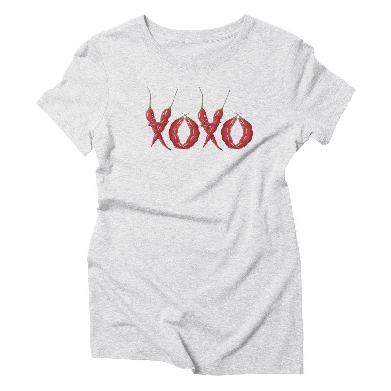 XOXO Chilies Women's Triblend T-Shirt by FashionedbyNature's Artist Shop