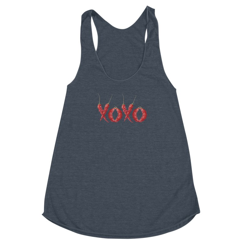 XOXO Chilies Women's Racerback Triblend Tank by FashionedbyNature's Artist Shop
