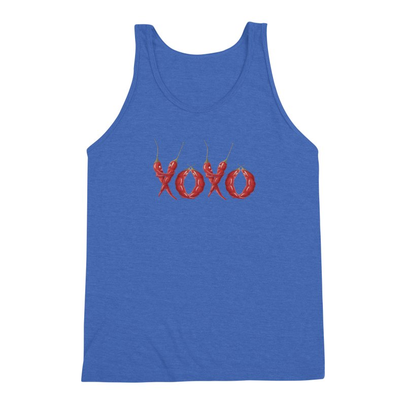 XOXO Chilies Men's Triblend Tank by FashionedbyNature's Artist Shop