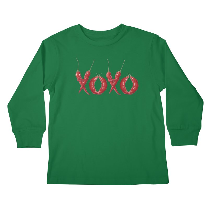 XOXO Chilies Kids Longsleeve T-Shirt by FashionedbyNature's Artist Shop