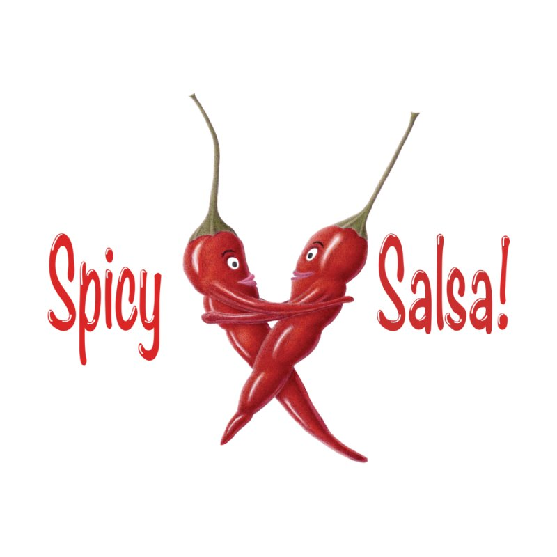 Spicy Salsa Men's T-Shirt by FashionedbyNature's Artist Shop