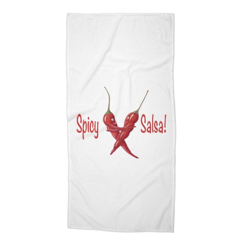 Spicy Salsa Accessories Beach Towel by FashionedbyNature's Artist Shop