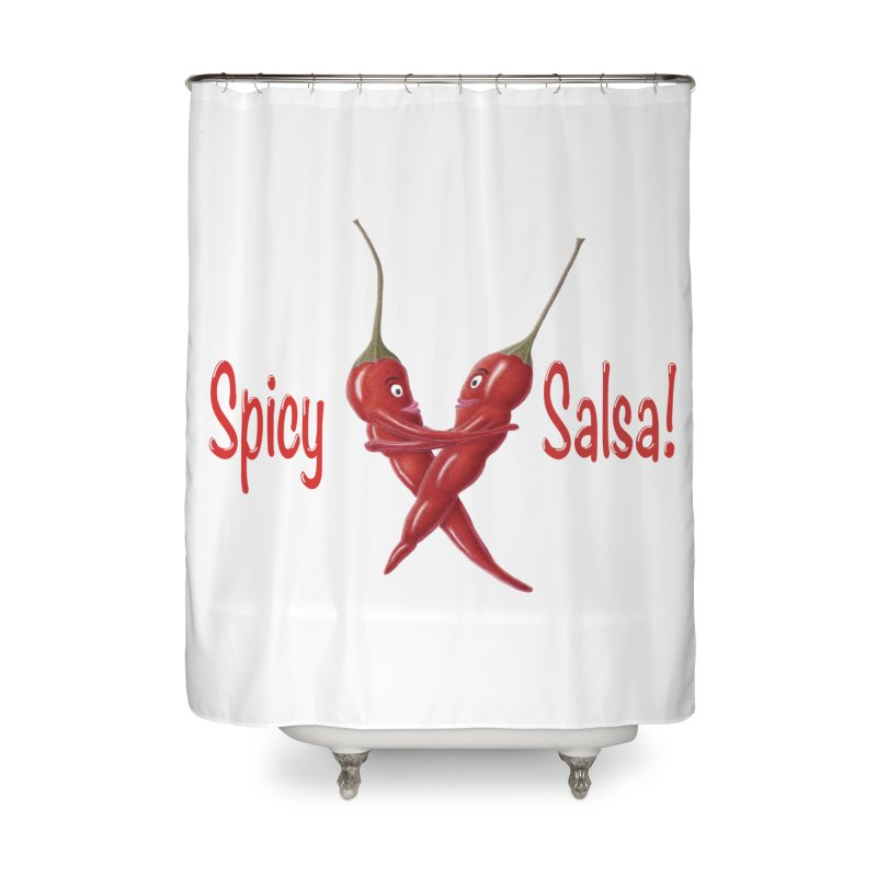 Spicy Salsa Home Shower Curtain by FashionedbyNature's Artist Shop