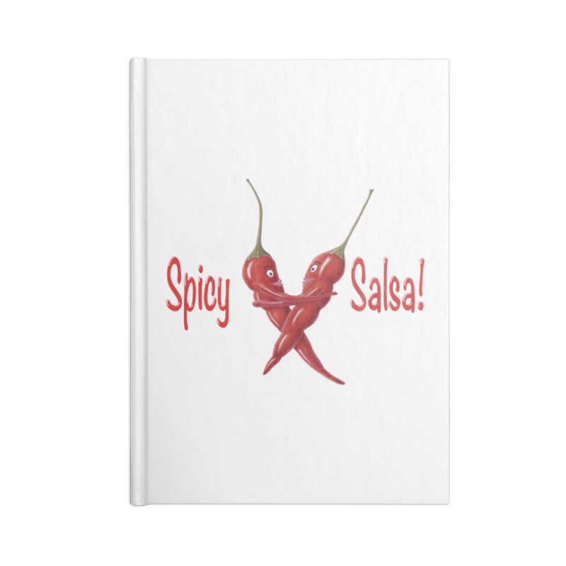 Spicy Salsa Accessories Lined Journal Notebook by FashionedbyNature's Artist Shop