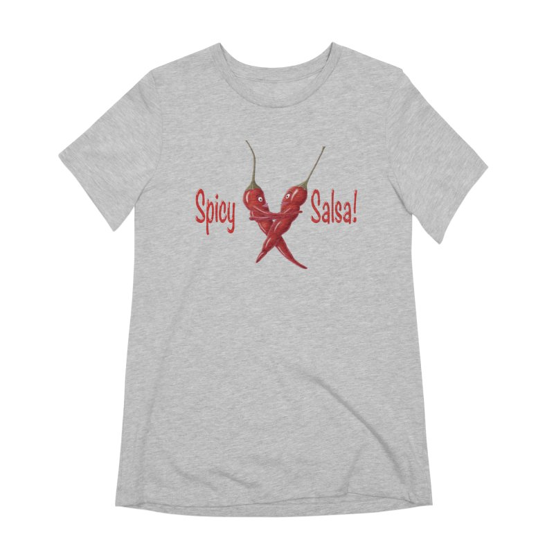 Spicy Salsa Women's Extra Soft T-Shirt by FashionedbyNature's Artist Shop