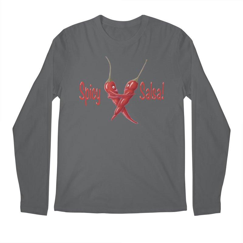 Spicy Salsa Men's Longsleeve T-Shirt by FashionedbyNature's Artist Shop