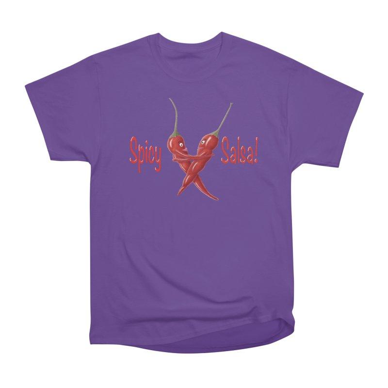 Spicy Salsa Women's Heavyweight Unisex T-Shirt by FashionedbyNature's Artist Shop