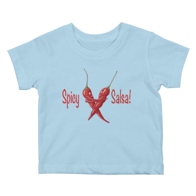 Spicy Salsa Kids Baby T-Shirt by FashionedbyNature's Artist Shop