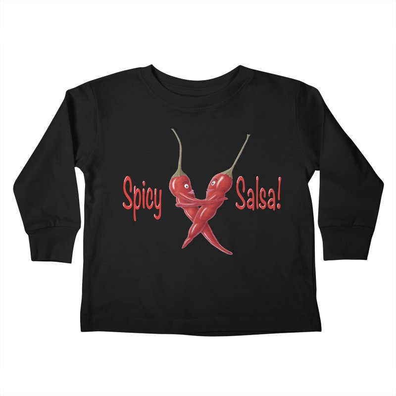 Spicy Salsa Kids Toddler Longsleeve T-Shirt by FashionedbyNature's Artist Shop