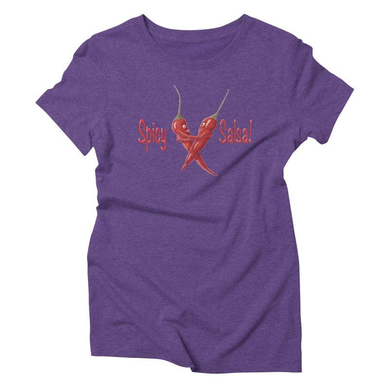 Spicy Salsa Women's Triblend T-Shirt by FashionedbyNature's Artist Shop