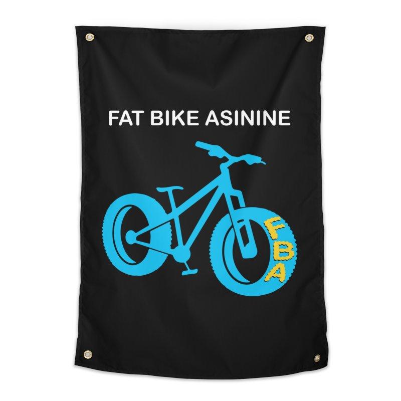 FAT BIKE ASININE's Fat Bike Logo for Dark Colored Apparel Home Tapestry by Fat Bike Asinine's Artist Shop