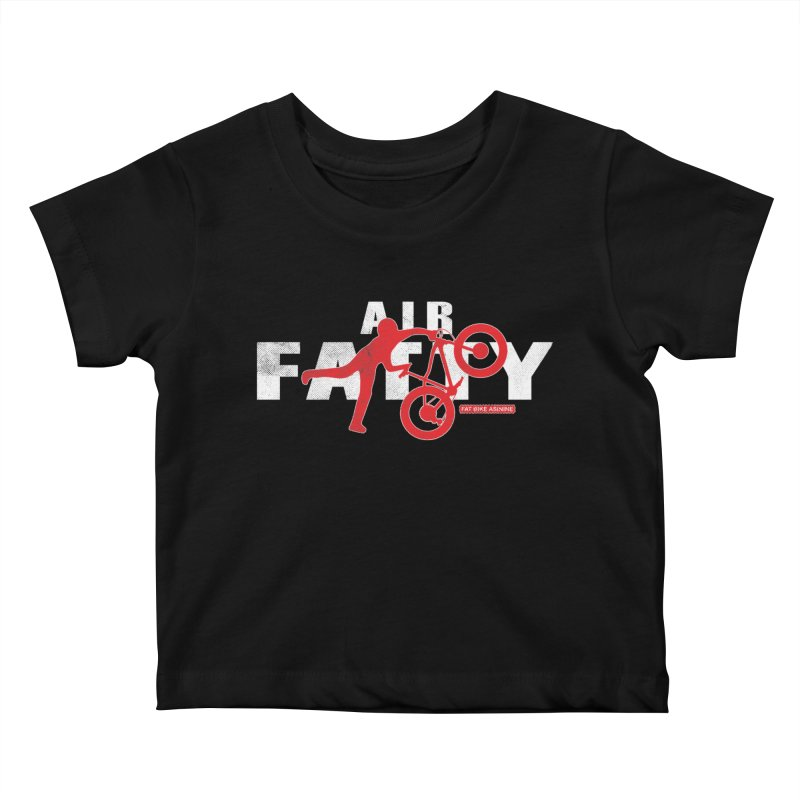 Air Fatty White Kids Baby T-Shirt by Fat Bike Asinine's Artist Shop