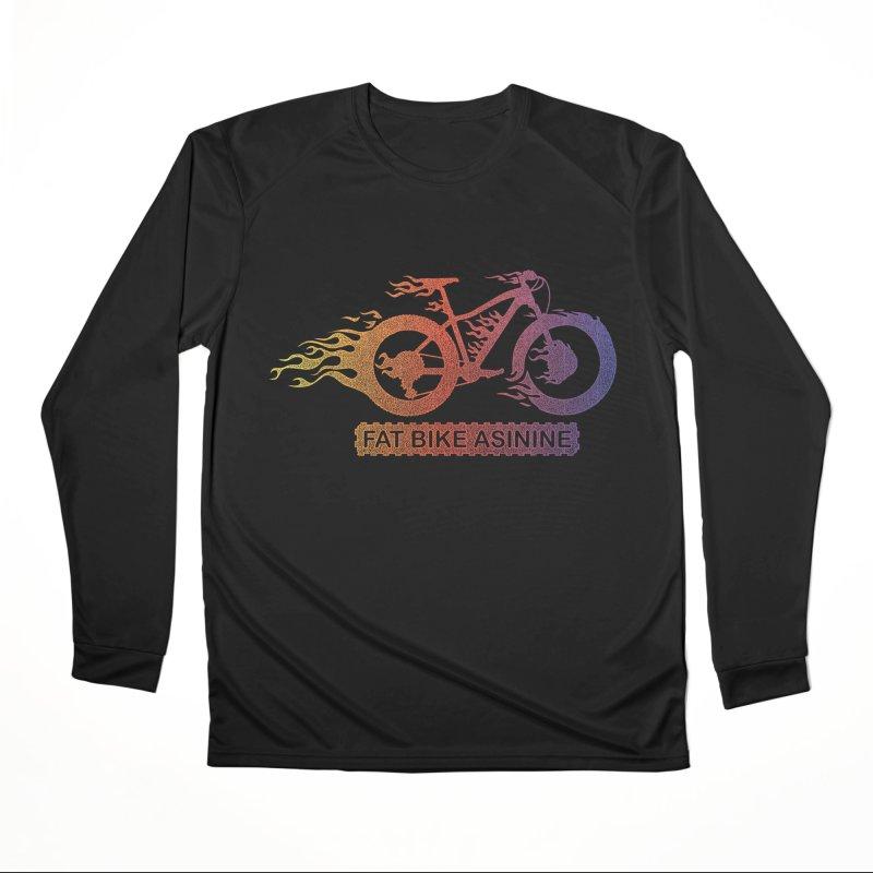 Hot Rod Fire Men's Performance Longsleeve T-Shirt by Fat Bike Asinine's Artist Shop
