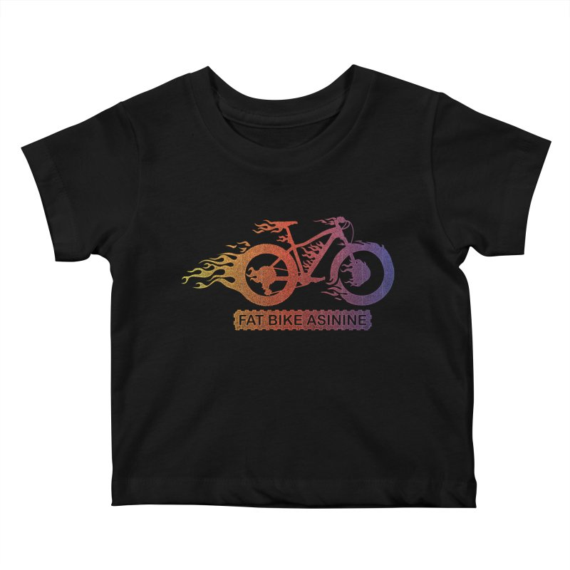 Hot Rod Fire Kids Baby T-Shirt by Fat Bike Asinine's Artist Shop