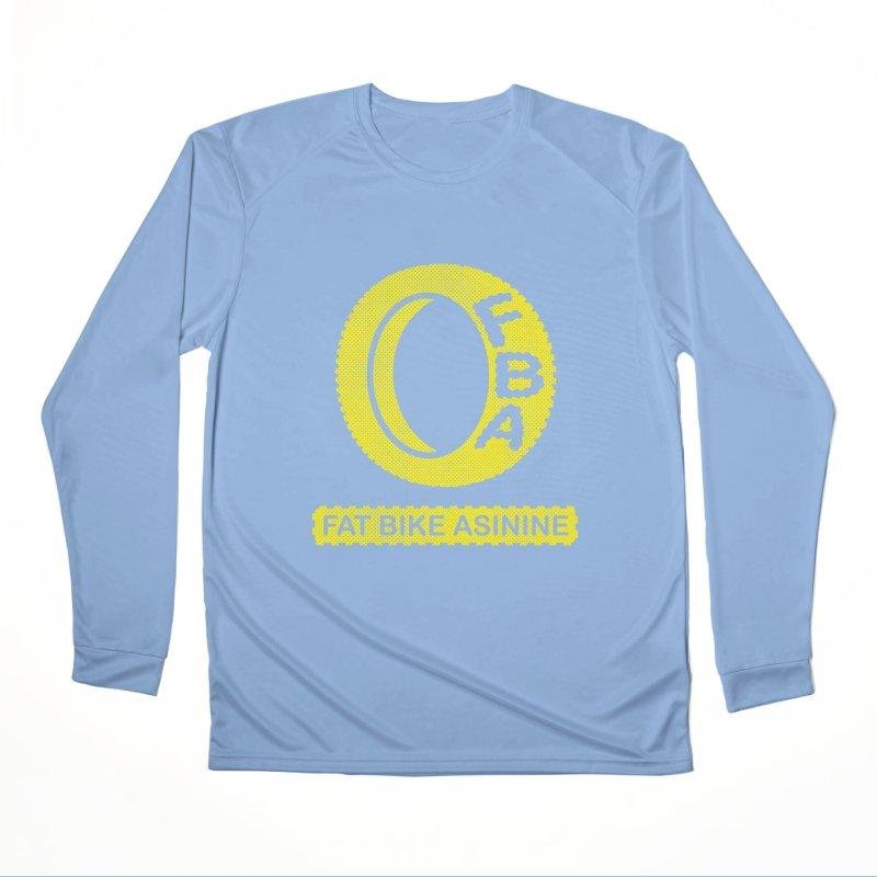 FBA Logo yellow Men's Performance Longsleeve T-Shirt by Fat Bike Asinine's Artist Shop