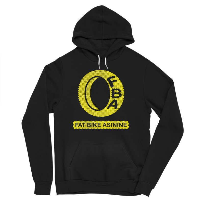 FBA Logo yellow Men's Sponge Fleece Pullover Hoody by Fat Bike Asinine's Artist Shop
