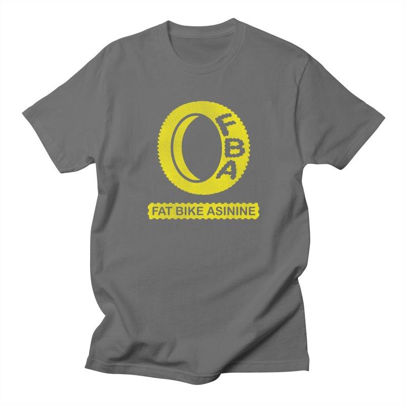 FBA Logo yellow Men's T-Shirt by Fat Bike Asinine's Artist Shop
