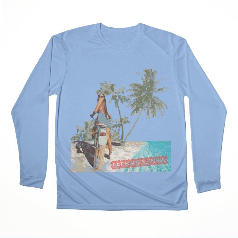 Beach Cruiser Men's Performance Longsleeve T-Shirt by Fat Bike Asinine's Artist Shop