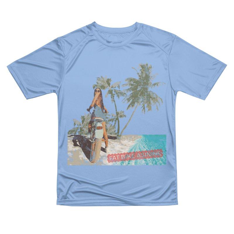 Beach Cruiser Men's Performance T-Shirt by Fat Bike Asinine's Artist Shop