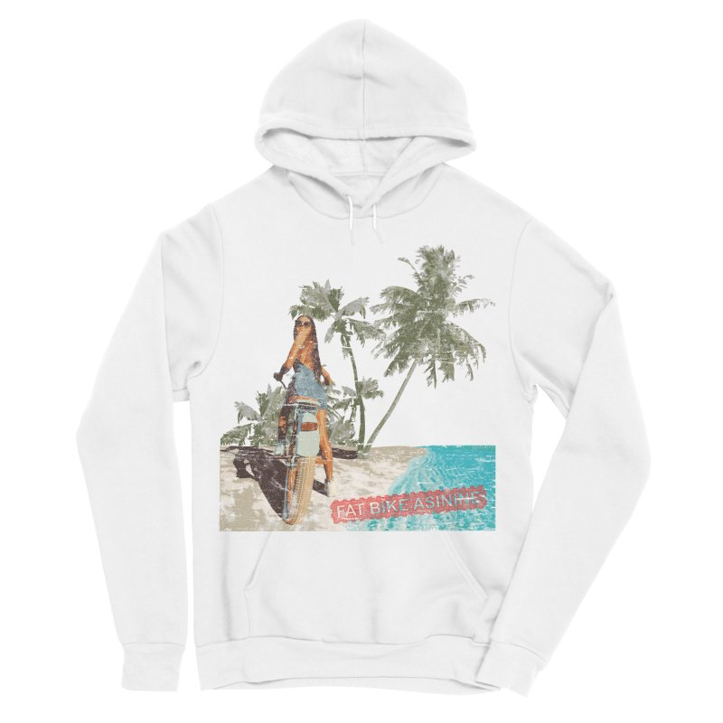 Beach Cruiser Men's Sponge Fleece Pullover Hoody by Fat Bike Asinine's Artist Shop
