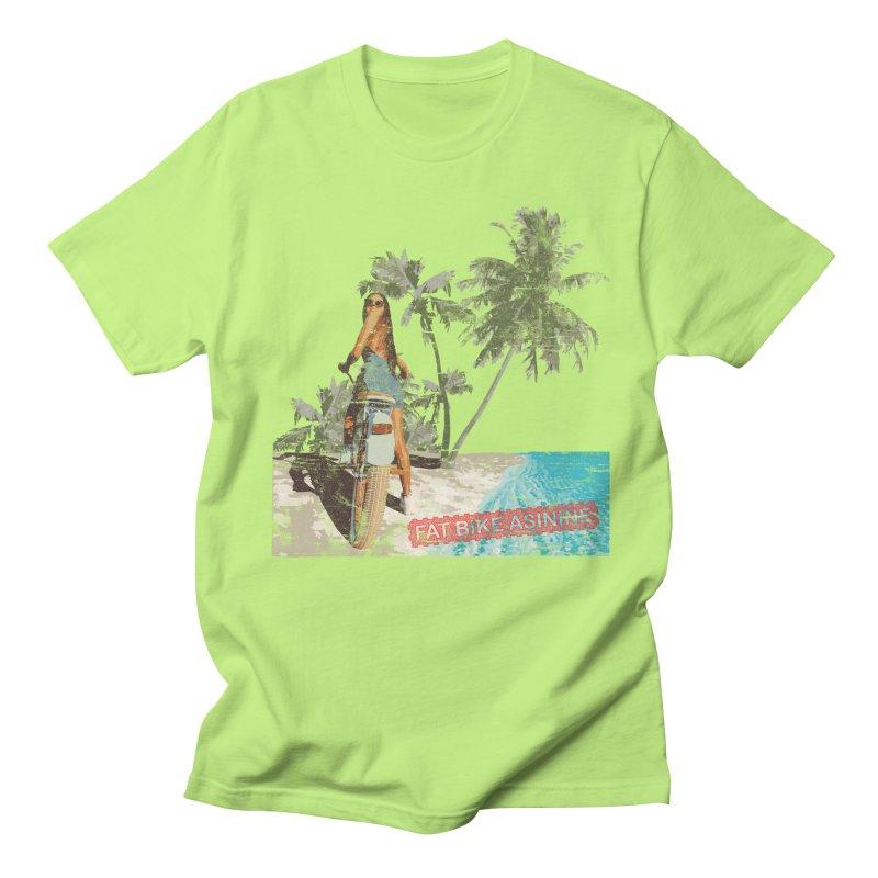 Beach Cruiser Men's Regular T-Shirt by Fat Bike Asinine's Artist Shop
