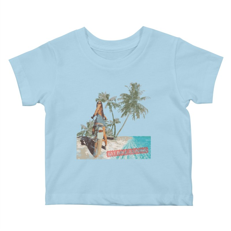 Beach Cruiser Kids Baby T-Shirt by Fat Bike Asinine's Artist Shop