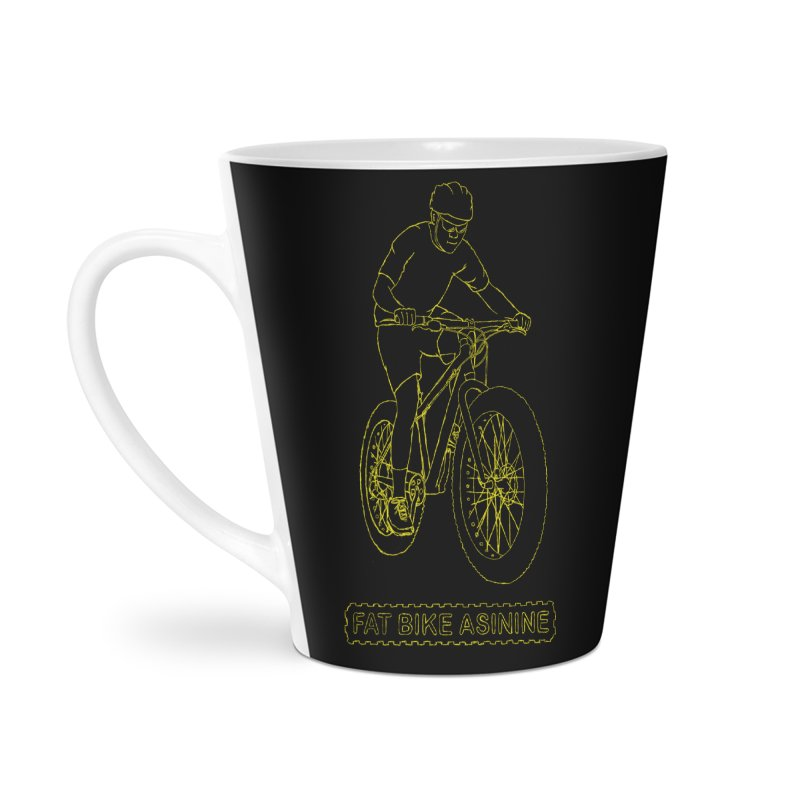Fatty Hand Drawing Accessories Latte Mug by Fat Bike Asinine's Artist Shop