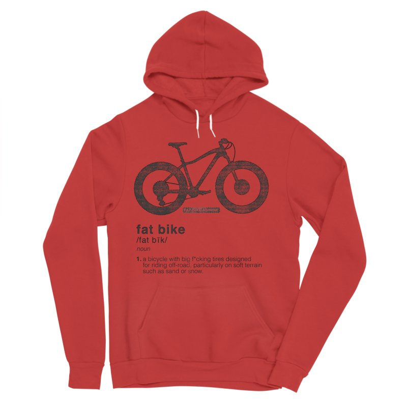 Dictionary Fat Bike Men's Sponge Fleece Pullover Hoody by Fat Bike Asinine's Artist Shop
