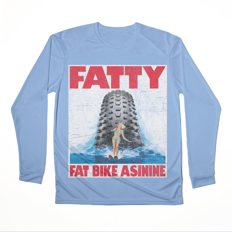 Fat Tire Jaws Men's Performance Longsleeve T-Shirt by Fat Bike Asinine's Artist Shop