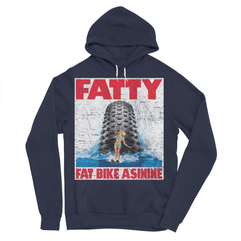 Fat Tire Jaws Men's Sponge Fleece Pullover Hoody by Fat Bike Asinine's Artist Shop