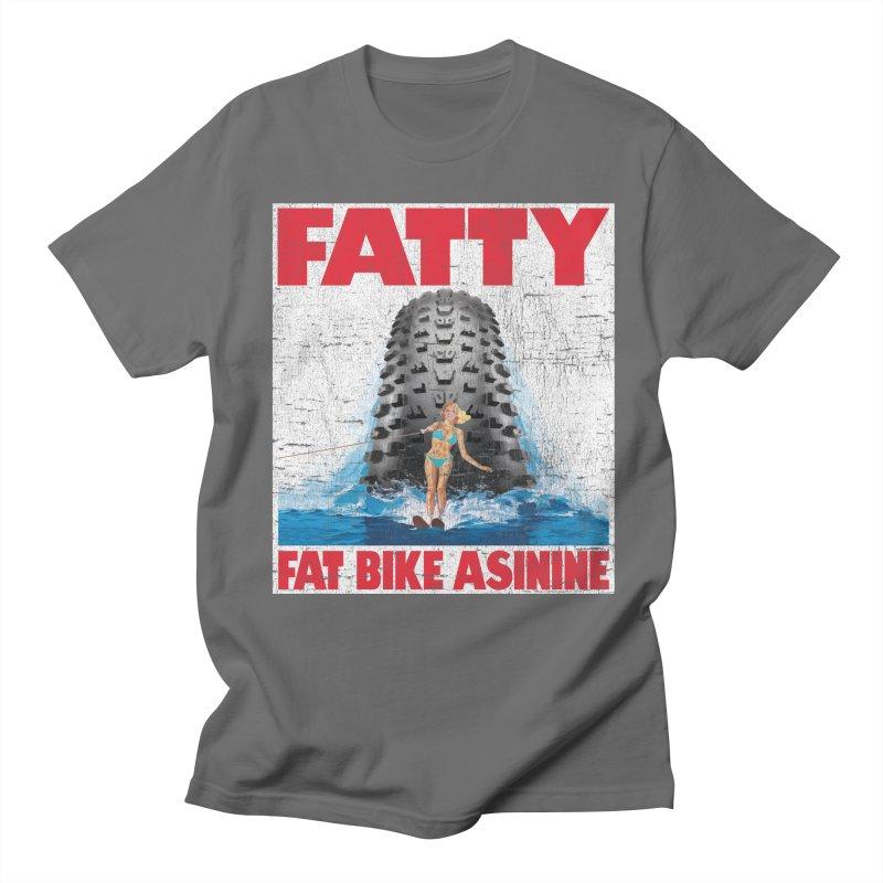 Fat Tire Jaws Men's T-Shirt by Fat Bike Asinine's Artist Shop