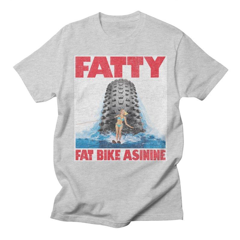Fat Tire Jaws Men's Regular T-Shirt by Fat Bike Asinine's Artist Shop