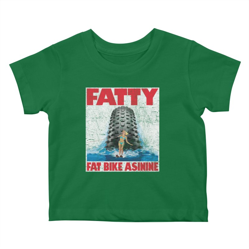 Fat Tire Jaws Kids Baby T-Shirt by Fat Bike Asinine's Artist Shop
