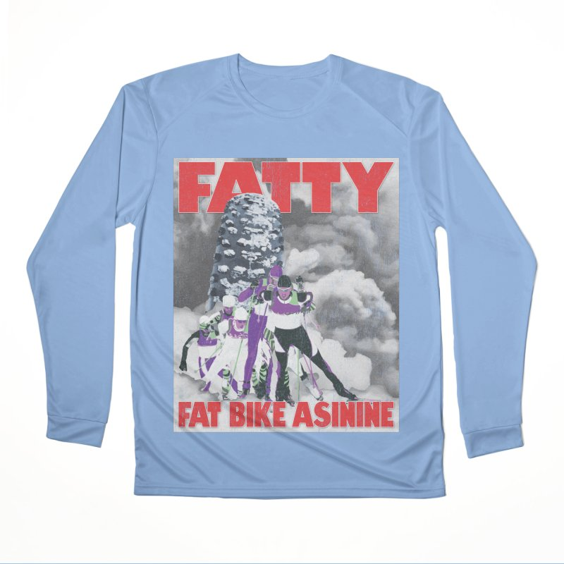 Fat Tire Jaws Cross Country Men's Performance Longsleeve T-Shirt by Fat Bike Asinine's Artist Shop