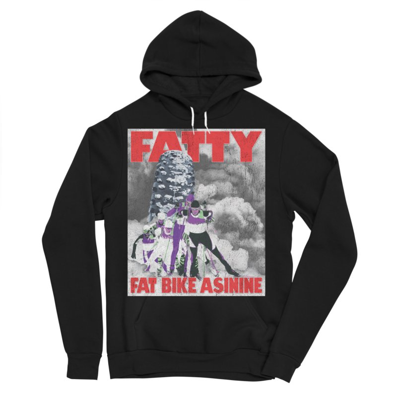 Fat Tire Jaws Cross Country Men's Sponge Fleece Pullover Hoody by Fat Bike Asinine's Artist Shop
