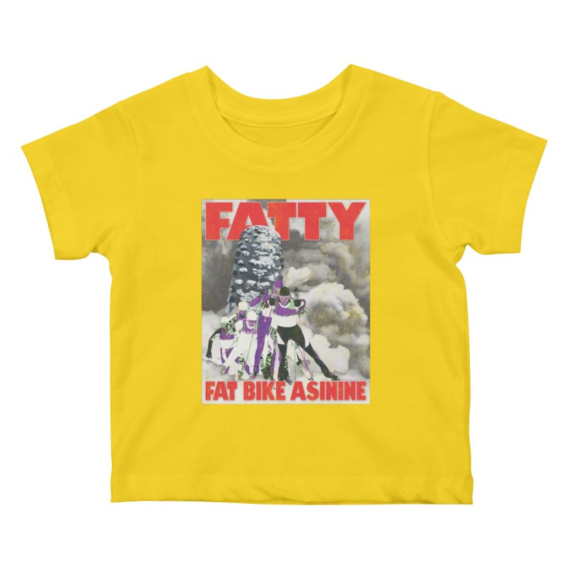 Fat Tire Jaws Cross Country Kids Baby T-Shirt by Fat Bike Asinine's Artist Shop