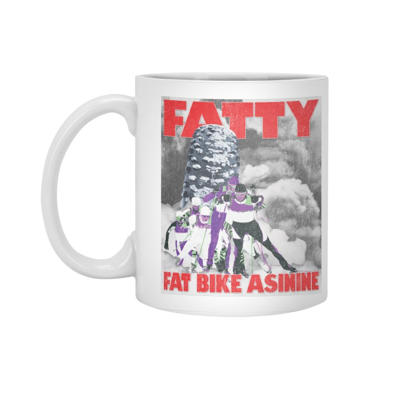 Fat Tire Jaws Cross Country Accessories Standard Mug by Fat Bike Asinine's Artist Shop