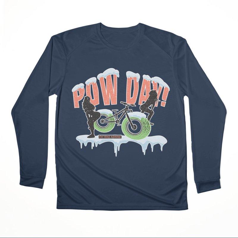 Pow Day Twerkin' Men's Performance Longsleeve T-Shirt by Fat Bike Asinine's Artist Shop