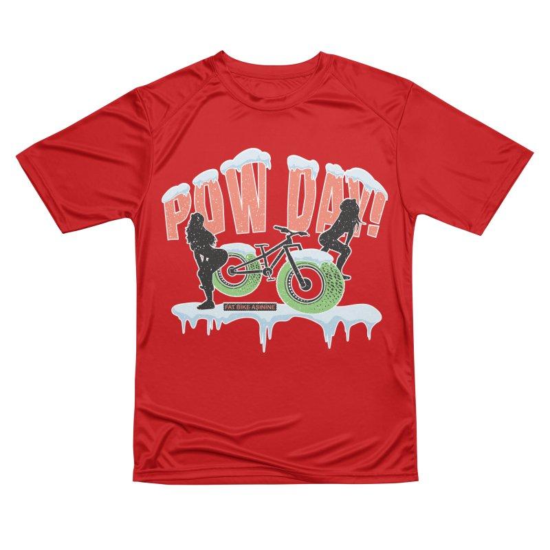 Pow Day Twerkin' Men's Performance T-Shirt by Fat Bike Asinine's Artist Shop