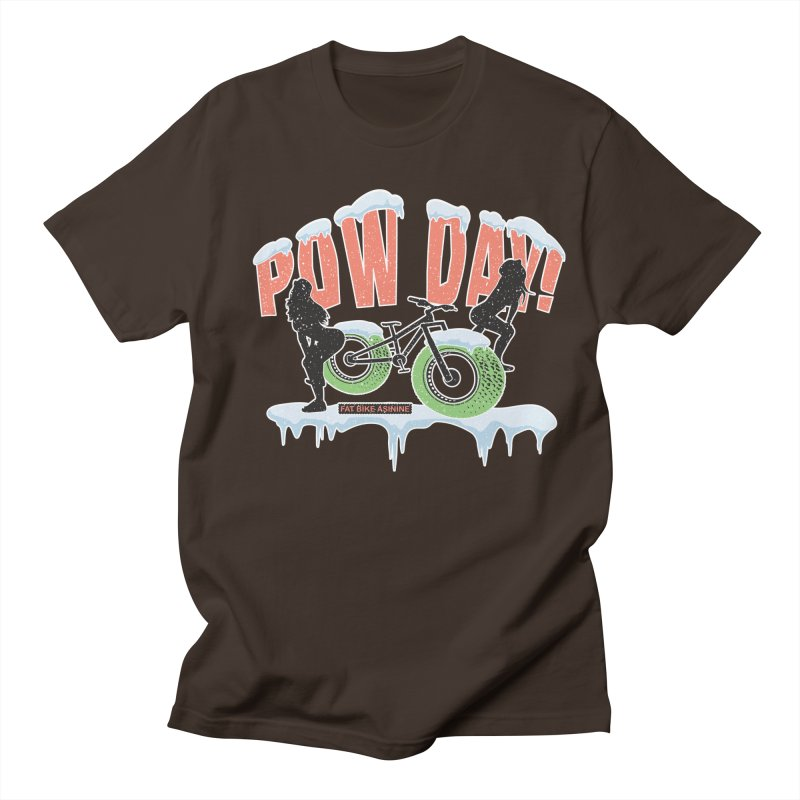 Pow Day Twerkin' Men's Regular T-Shirt by Fat Bike Asinine's Artist Shop