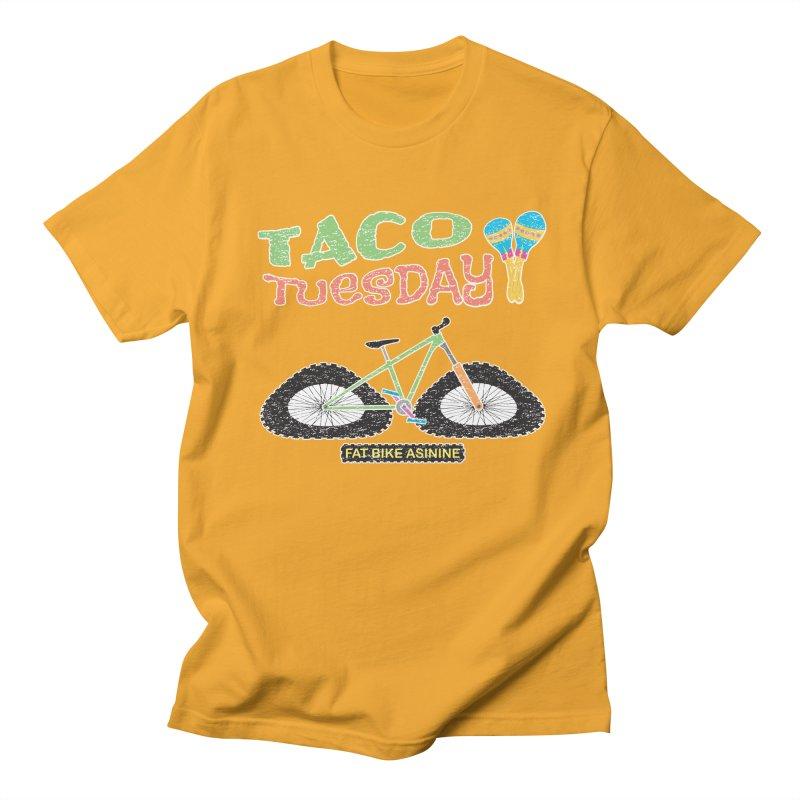 Taco Tuesday Men's Regular T-Shirt by Fat Bike Asinine's Artist Shop